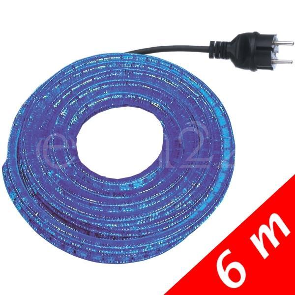 6m-Lichtschlauch-Lichterschlauch-Lichterkette-Deko-blau