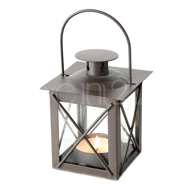 Windlicht laterne farol aus metall mit echtglas for Laterne windlicht