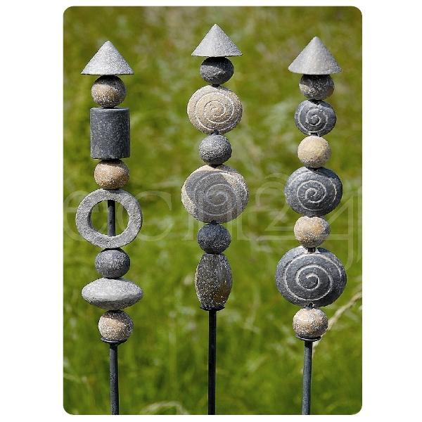 gartenstab stone 3er set gartenstecker steine | ebay, Garten Ideen
