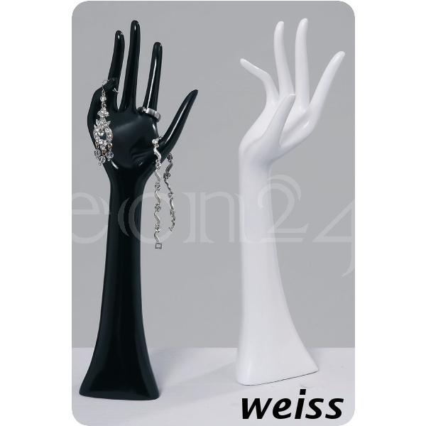 schmuckhand schmuckhalter ring hand wei 33cm ebay. Black Bedroom Furniture Sets. Home Design Ideas