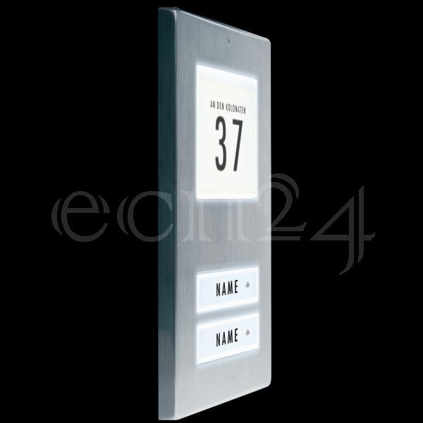 klingeltaster klingelplatte led beleuchtung 2 familien ebay. Black Bedroom Furniture Sets. Home Design Ideas