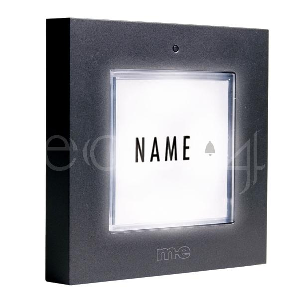 1 f klingeltaster klingelknopf namensschild beleuchtet ebay. Black Bedroom Furniture Sets. Home Design Ideas