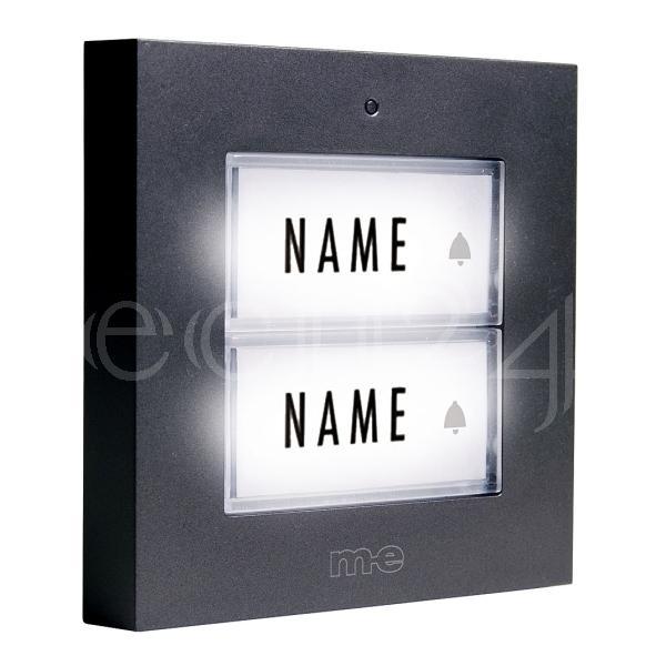 klingeltaster klingelknopf t rklingel 2 familien mit led beleuchtung ebay. Black Bedroom Furniture Sets. Home Design Ideas