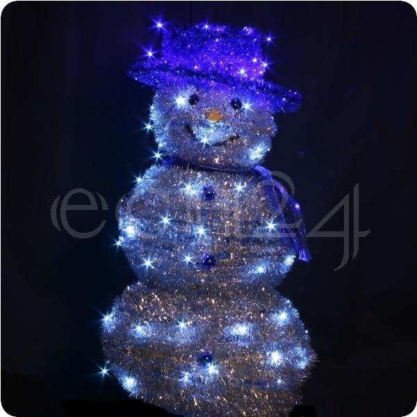 schneemann led lichterkette leuchtfigur weihnachtsdeko ebay. Black Bedroom Furniture Sets. Home Design Ideas