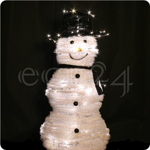 Details zu Schneemann LED Lichterkette Leuchtfigur Weihnachtsdeko