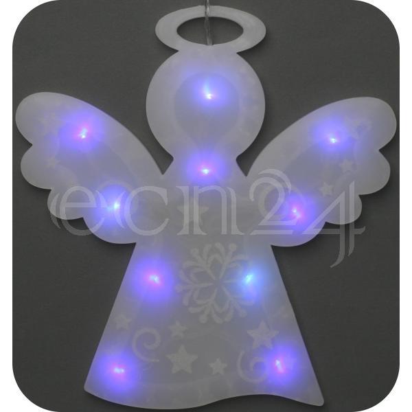 fensterdeko engel mit rgb led beleuchtung ebay. Black Bedroom Furniture Sets. Home Design Ideas