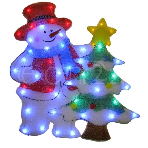 led schneemann figur au en dekoration zu weihnachten ebay. Black Bedroom Furniture Sets. Home Design Ideas