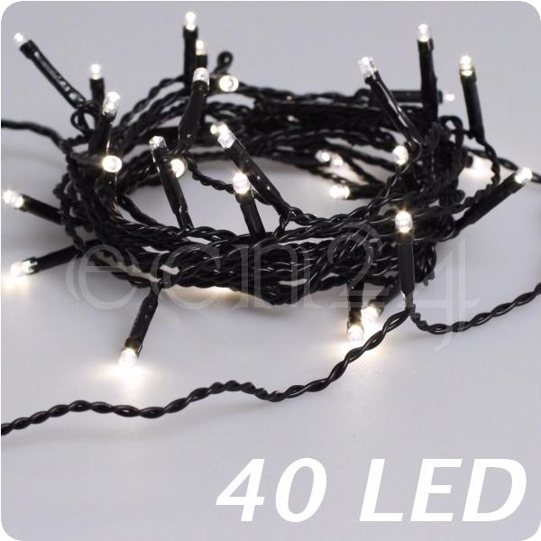 Led lichterkette warmwei schwarzes kabel deko weihnachten for Lichterkette innen deko