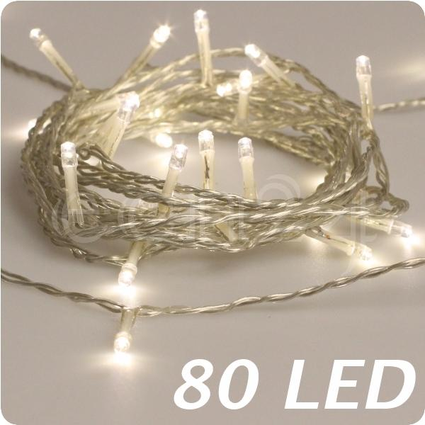 Led lichterkette warmwei transparentes kabel deko for Lichterkette innen deko
