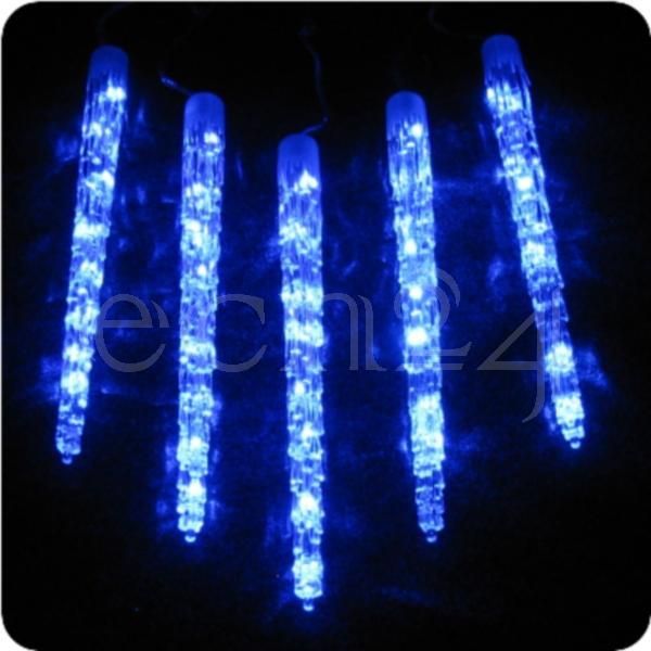 led eiszapfen lichterkette blau weihnachten 50cm ebay. Black Bedroom Furniture Sets. Home Design Ideas