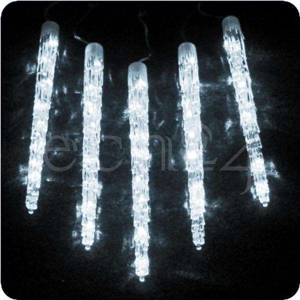led eiszapfen lichterkette kaltweiss weihnachten 50cm ebay. Black Bedroom Furniture Sets. Home Design Ideas