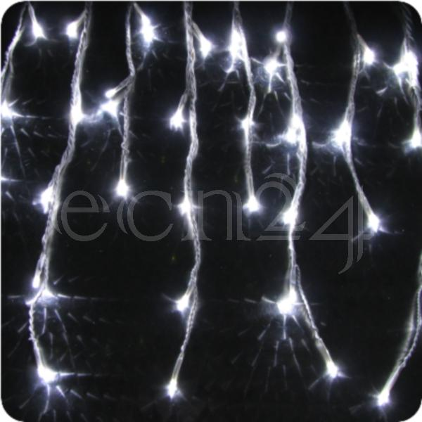 led eiszapfen lichterkette 8m statisches licht deko weihnachten ebay. Black Bedroom Furniture Sets. Home Design Ideas