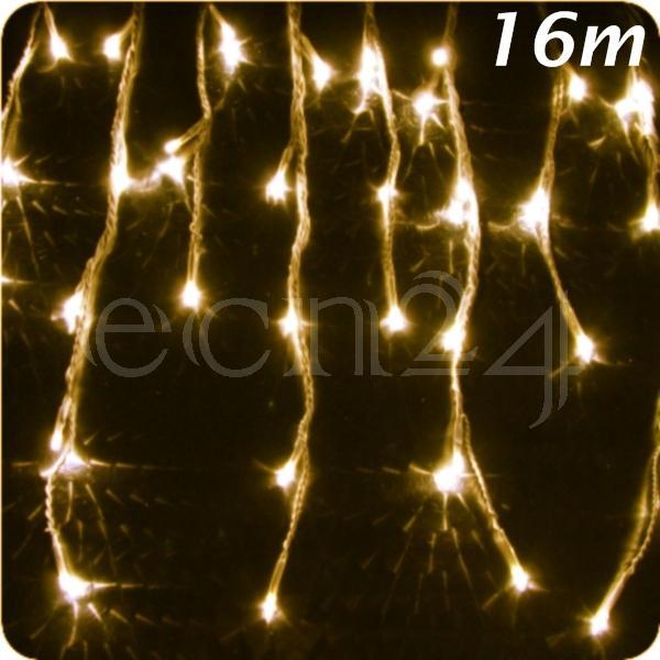 led eiszapfen lichterkette 16m statisches licht deko. Black Bedroom Furniture Sets. Home Design Ideas