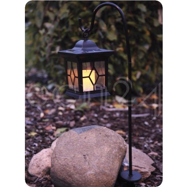 Lanterne lampe de jardin de lumi re led de bougie solaire - Lanterne avec bougie exterieur ...