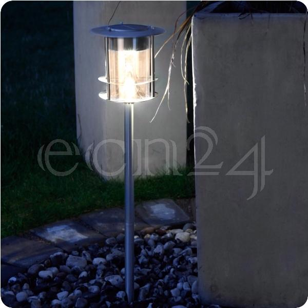 lampe solaire pour jardin et chemin avec led en blanc chaud ebay. Black Bedroom Furniture Sets. Home Design Ideas