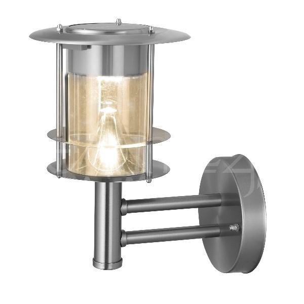 luminaire ext rieur led solaire blanc chaud en inox ebay. Black Bedroom Furniture Sets. Home Design Ideas