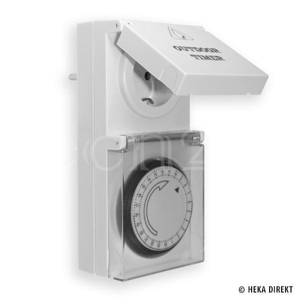 zeitschaltuhr als lichtschalter au enbereich oder feuchtraum ip44. Black Bedroom Furniture Sets. Home Design Ideas