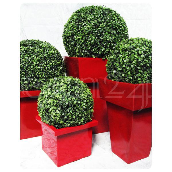 Blumentopf pflanztopf blumenkasten quadrat rot ebay for Blumentopf rot