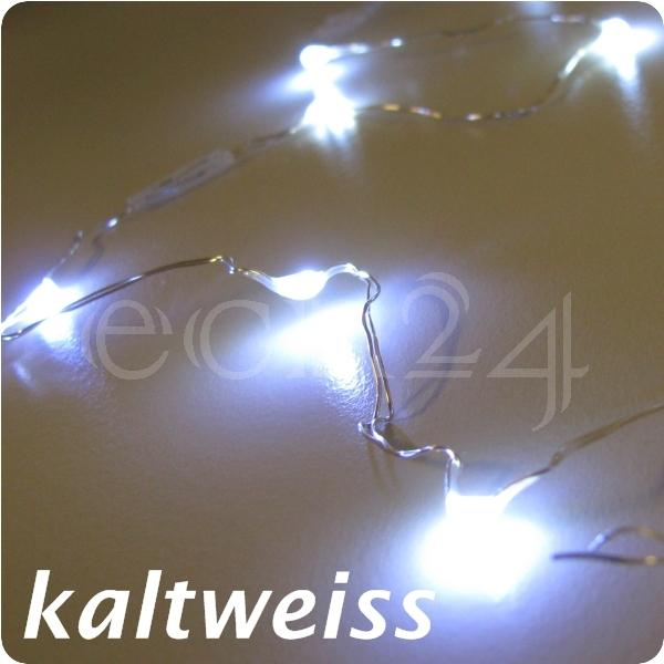 led lichterkette aus draht mit 80 led leuchtkette weiss ebay. Black Bedroom Furniture Sets. Home Design Ideas
