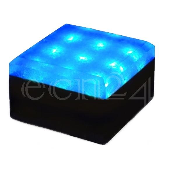12v led beleuchteter pflasterstein bodenstrahler 10x10 ebay. Black Bedroom Furniture Sets. Home Design Ideas