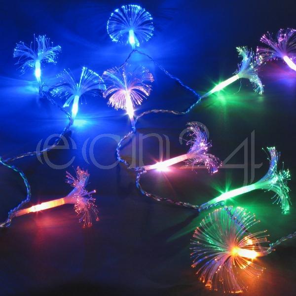 led lichterkette mit lichtleiter weihnachten lichtkette ebay. Black Bedroom Furniture Sets. Home Design Ideas