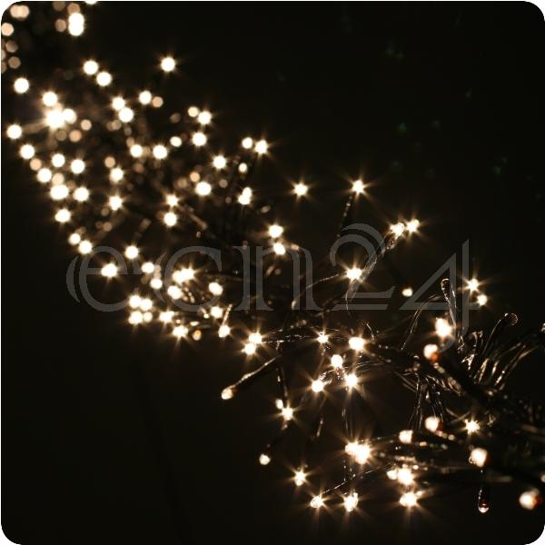led cluster lichterkette leuchtkette lichtkette warmweiss ebay. Black Bedroom Furniture Sets. Home Design Ideas