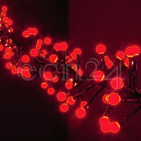 led lichterkette clusterlights rot mit kugeln. Black Bedroom Furniture Sets. Home Design Ideas