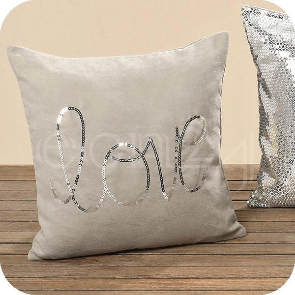 trendiger kissenbezug mit glitzereffekt 40 x 40 cm als bezug f r kissen ebay. Black Bedroom Furniture Sets. Home Design Ideas
