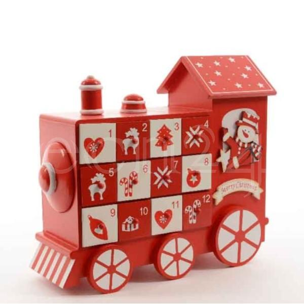 calendrier de l 39 avent locomotive en bois 24cm remplir eur 19 94 picclick fr. Black Bedroom Furniture Sets. Home Design Ideas
