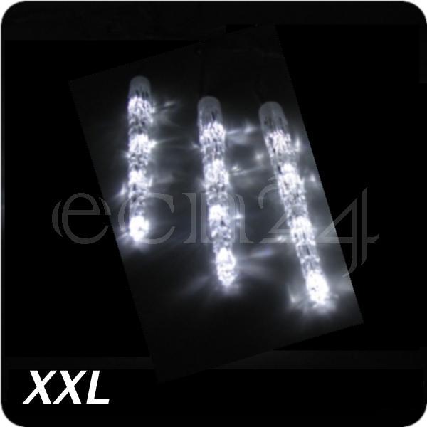 3 xxl eiszapfen als lichterkette mit kaltwei en led lauflicht f r weihnachten ebay. Black Bedroom Furniture Sets. Home Design Ideas