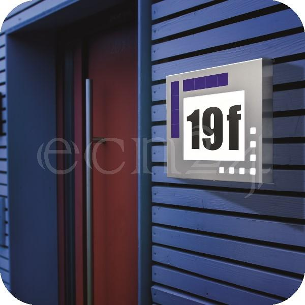 eclairage de maison led solaire en inox ebay. Black Bedroom Furniture Sets. Home Design Ideas