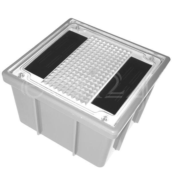 LED Solar Pflasterstein Solarstein Bodenstrahler Solarlampe mit kaltweisser LED