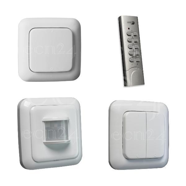 funk lichtschalter doppelwippe funkschalter efs 433mhz ebay. Black Bedroom Furniture Sets. Home Design Ideas
