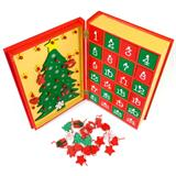Advent calendar made of wood with boxes