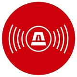 Alarm-security sticker, circle, picto