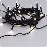 LED light string warm white, black cable