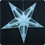 LED star, battery-operated, 40cm, timer function