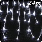 LED icicles light string - snowfall effect 24m