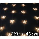 Light string curtain with 20 stars