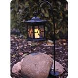 Solar lantern 58cm with flickering candle