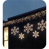 LED snowflake warm white, extendable