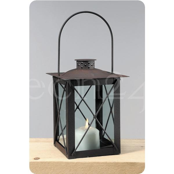 windlicht laterne farol aus metall mit echtglas. Black Bedroom Furniture Sets. Home Design Ideas