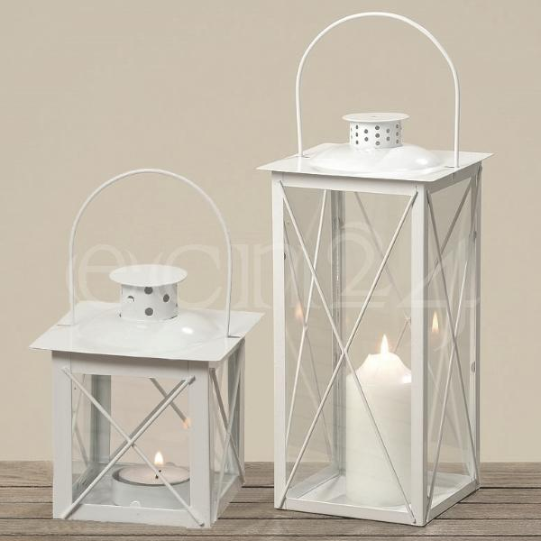 windlicht laterne farol wei aus metall mit glas. Black Bedroom Furniture Sets. Home Design Ideas