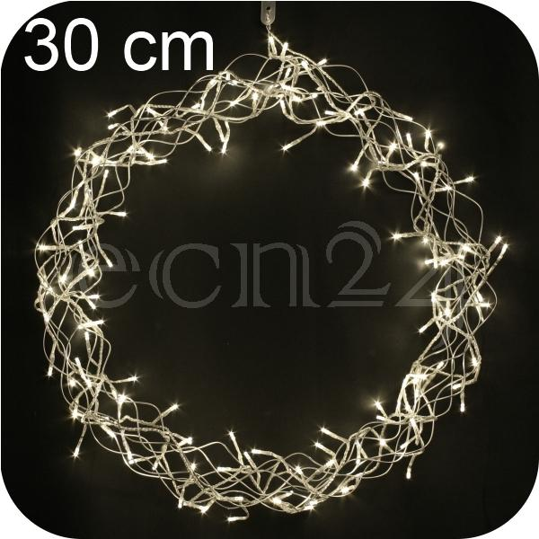 couronne de porte led curly